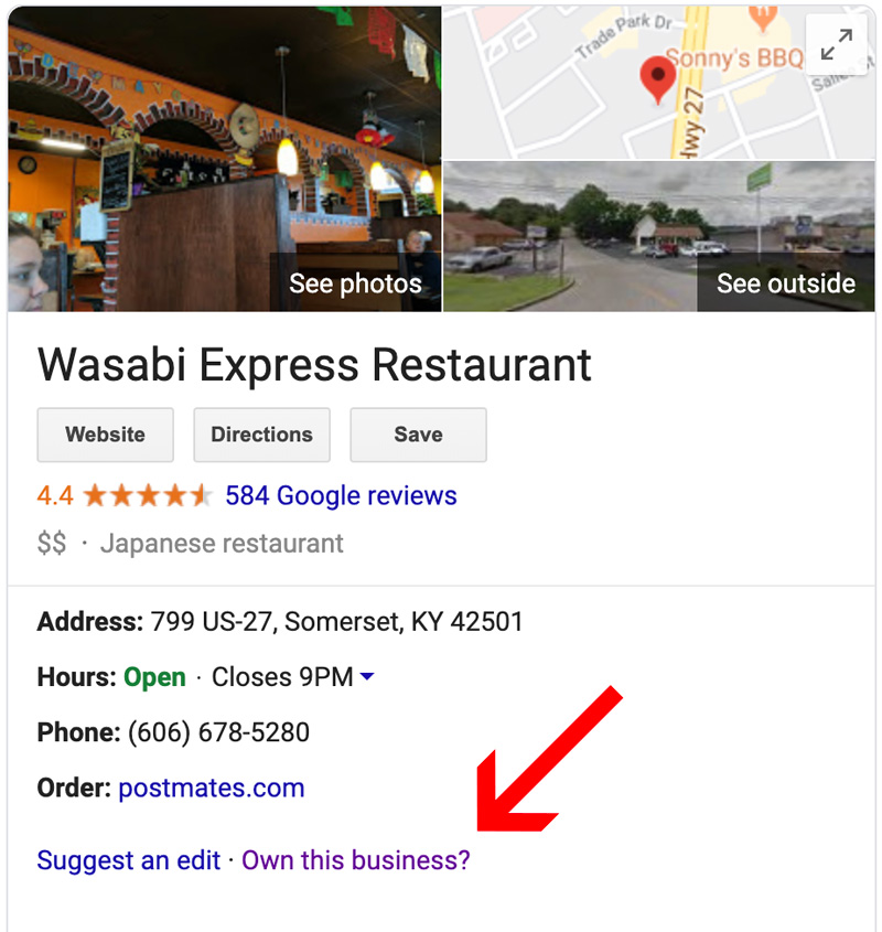 how to set up a google my business listing